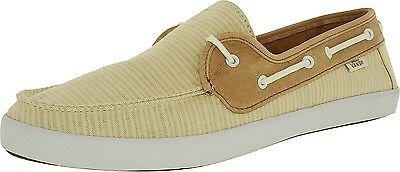 6bbe789c77 Vans Off the Wall Womens Surf Chauffette Natural Stripe Tan Brown Boat Shoes  5