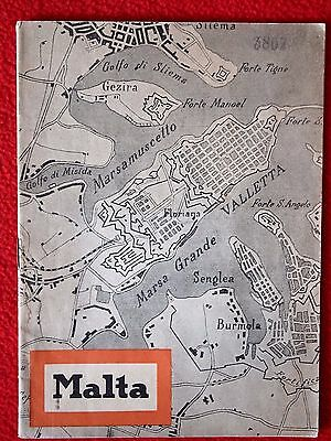 Melitensia. Italian Malta report 1940. Old pictures. Valleta plan in cover.