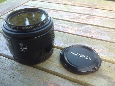 Minolta 50mm F1.7 For Sony Alpha DSLRs Or A7 (with Adapter)