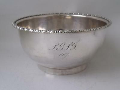 Antique Solid Sterling Silver Bowl 1915/ Dia 12.5 cm/ 180 g