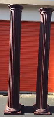 Pair of Fluted Columns