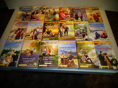 (18) Harlequin Romance Love Inspired Books Large Print