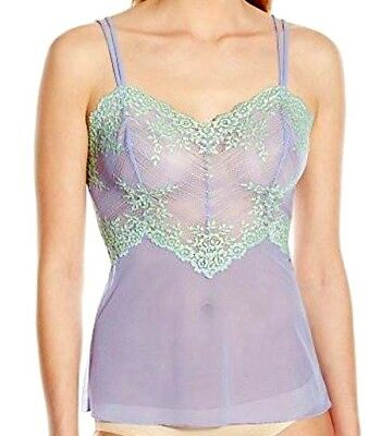 WACOAL 811191 Embrace Lace Camisole VERY VIOLET/BAMBOO  NWT $45 Sz M