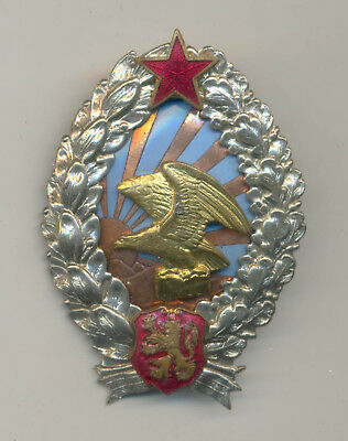 """Very rare WWII Bulgaria Air force military badge """" Pilot Observer """""""