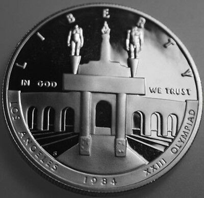 * 1984-S Commemorative Proof Silver Dollar Olympiad COIN ONLY