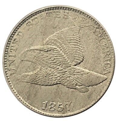 * 1857 1C FLYING EAGLE CENT * HIGH GRADE * Very nice Detail!