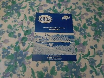 1957 Bros Sheepfoot-Diamondfoot Tamper Rollers Sales Brochure