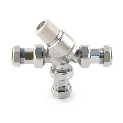 Inta 15Mm L Mix Thermostatic Mixing Valve With Tailpieces