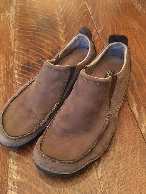 32646590 Patagonia Skywalk Cardon Leather Slip On Loafer Shoe Men Size 10 Brown