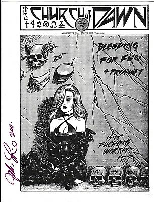 The Church Of Dawn Newsletter # 1 Signed By Joseph Michael Linsner 1992 Comics
