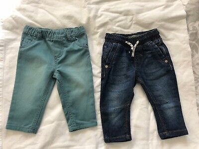 2 Pairs Baby Boy Jeans Size 00 Size 3-6 Months Carters And Next Brands