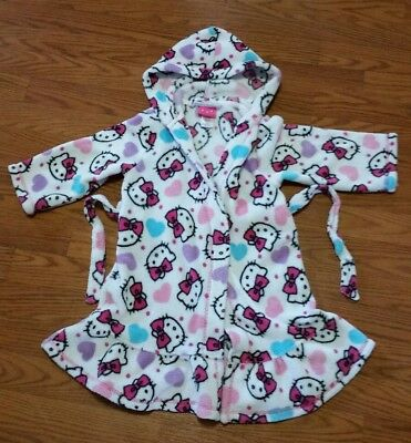 Hello Kitty bath robe or cover up used size 4