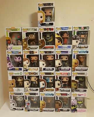 Funko Pop! Mixed Lot of 21 Figures in Boxes Disney TV Movies Instant Collection