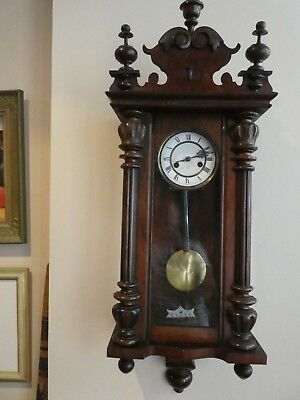 Antique HAC Vienna regulator 1900s 8-day wall clock