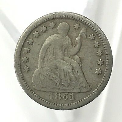 * 1853 10c Seated Liberty Silver Dime W/ Arrows - 90% U.S. Coin Lot#1