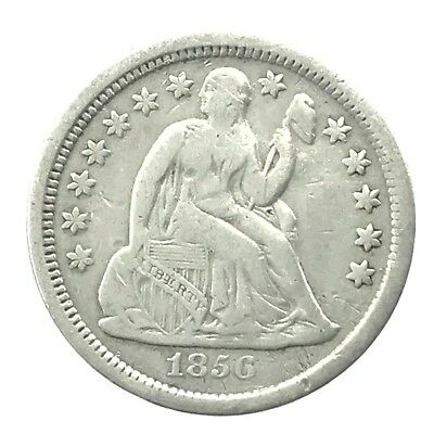* 1856 10c Seated Liberty Silver Dime - 90% U.S. Coin
