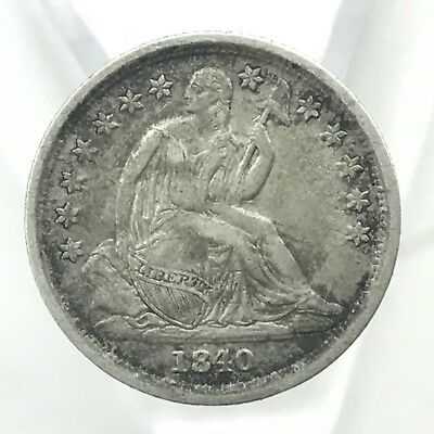 * 1840-O 10c Seated Liberty Silver Dime - 90% U.S. Coin - New Orleans Mint