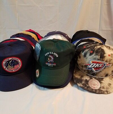 Lot of 40 Vintage & New Strapback Snapbacks Hipster Caps Advertising Dad Hats #7