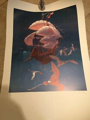 Art of Disney Treasure Planet Ian Gooding Autographed Lithograph LE 100