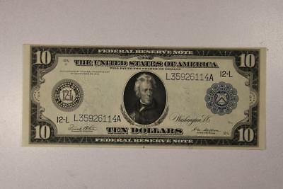 1914 Large Size $10 San Francisco Federal Reserve Note *Choice AU*