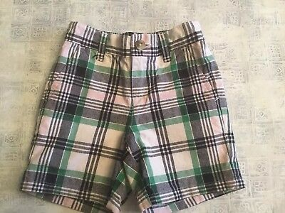 Janie And Jack Spring Derby Collection Baby Boy'S Plaid Shorts - Size 6M T 12M