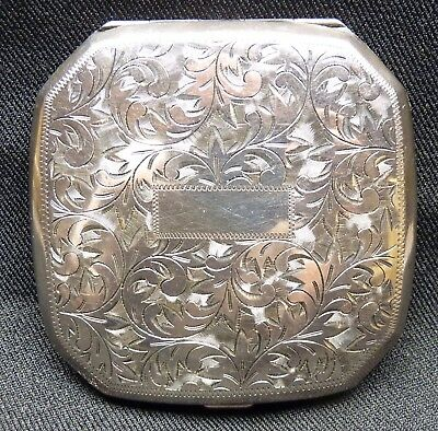 Vintage Japanese Sterling Silver Compact - Sterling 950