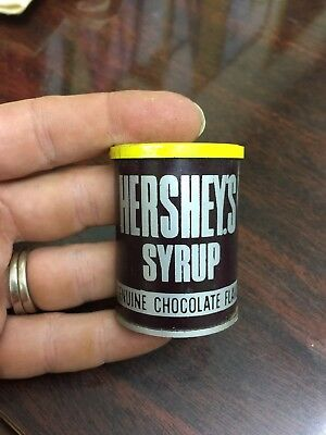 Hershey's Chocolate Syrup Can & Bottle Mini Fake Food Magnet Set Advertising