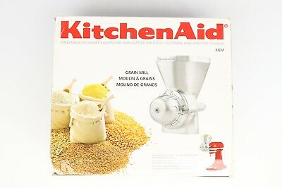 KitchenAid Grain Mill KGM w/ Cleaning Brush Stand Mixer Attachment Stainless