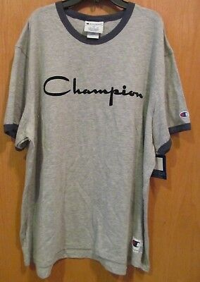 05596f90 CHAMPION W9843G HERITAGE Short Sleeve Ringer Tee - $18.99 | PicClick