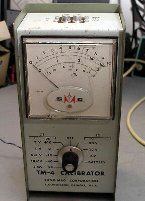 Sono-Mag TM-4 Calibrator, AC & DC multi-meter for tape carts, tested, works