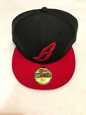 9774e963eba90 Billionaire Boys Club Cap Hat Floating B Fitted 7 1 4 Black Red 59FIFTY New