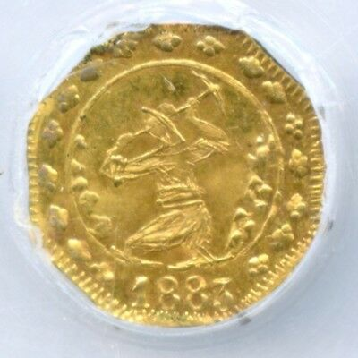 Scarce 1883 Q Gold Miner W/Pickaxe California Gold Token / NGC MS63 R6