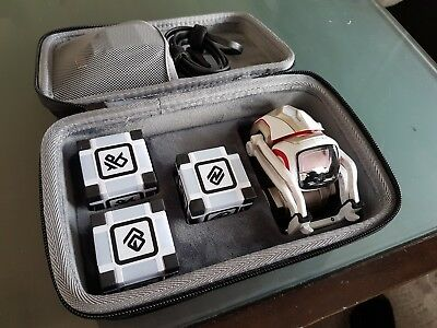 Anki - Cozmo AI Robot With Power Cubes & Carrying Case (EXCELLENT CONDITION)
