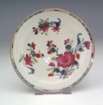Antique Chinese Porcelain - Hand Painted Flower Decorated Saucer Dish - Early!