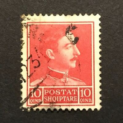 Albania 1930 10q Red King Zog I Used. SG 280
