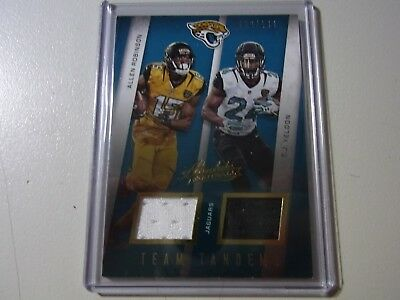 2016 Panini Absolute Team Tandems Dual Patch Allen Robinson T.J Yeldon #39/149