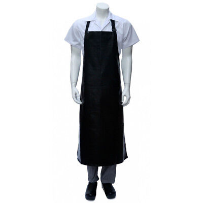 PVC Apron Black Long Chefworks Hospitality Wet Work Butcher Protective Plastic
