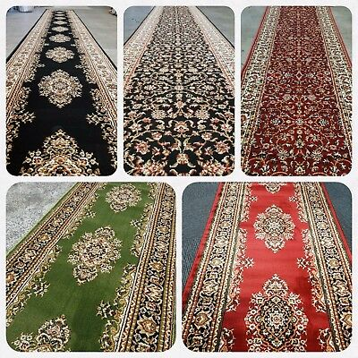 Traditional Hall Runners Cut to size 1m wide Corridor Runners