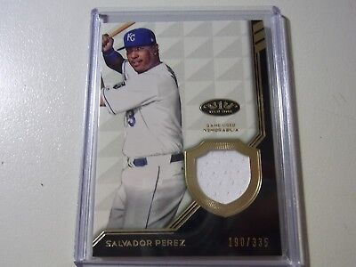 2018 Topps Tier One Relic Card Game Worn Salvador Perez Royals #190/335