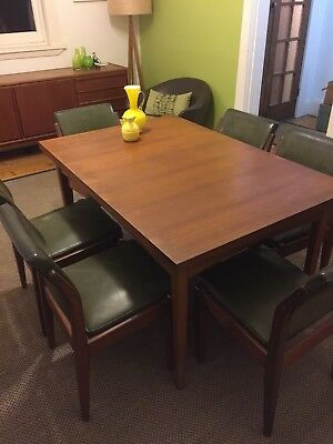 Mid Century Retro Vintage Danish Parker CHISWELL Style 6 Seat Dining Setting
