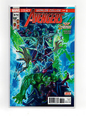 AVENGERS #672  Signed by MARK WAID and LIMITED to 80 copies (Dynamic Forces)