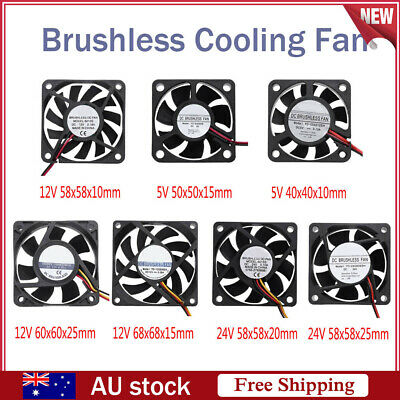 Waterproof 5V/12V/24V Low Noise Brushless Computer Cooling Fan Radiator Cooler