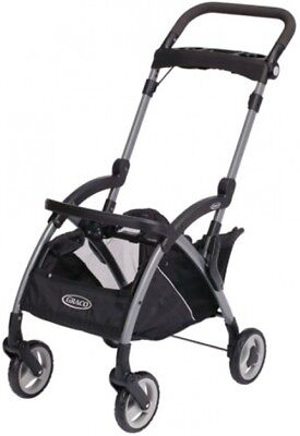 Infant Car Seat Frame Stroller Black Ultra-Lightweight With XL Storage Basket