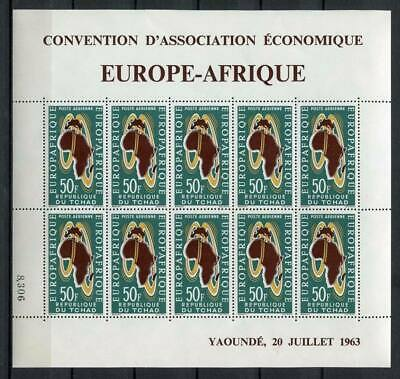 29715) DEALER STOCK TCHAD 1963  MNH** Europa Afrique MS (x5 MS)