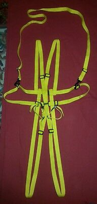 Deluxe Adult Fancy Dress Yellow Baby Harness & Reins + Crotch and Wrist