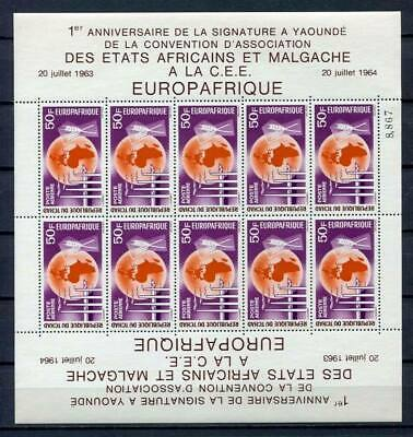 29716) DEALER STOCK TCHAD 1964  MNH** Europa Afrique MS (X9 MS)