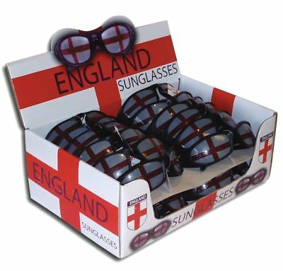 ENGLAND NOVELTY SUNGLASSES St George Saint Sport Football Fancy Dress Item SUG31