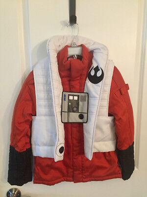 Star Wars Poe Dameron Jacket for Kids SZ 7/8, Disney Store, Costume