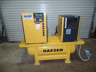 Kaeser Sm11 Rotary Compressor With Tank And Dryer 10Hp 42Cfm 624 Hours