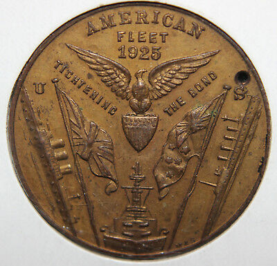 1925 The American Fleet / Australasian Souvenir  38mm